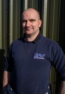 Martin Glendinning, technician at GR Autocare garage in North Berwick.