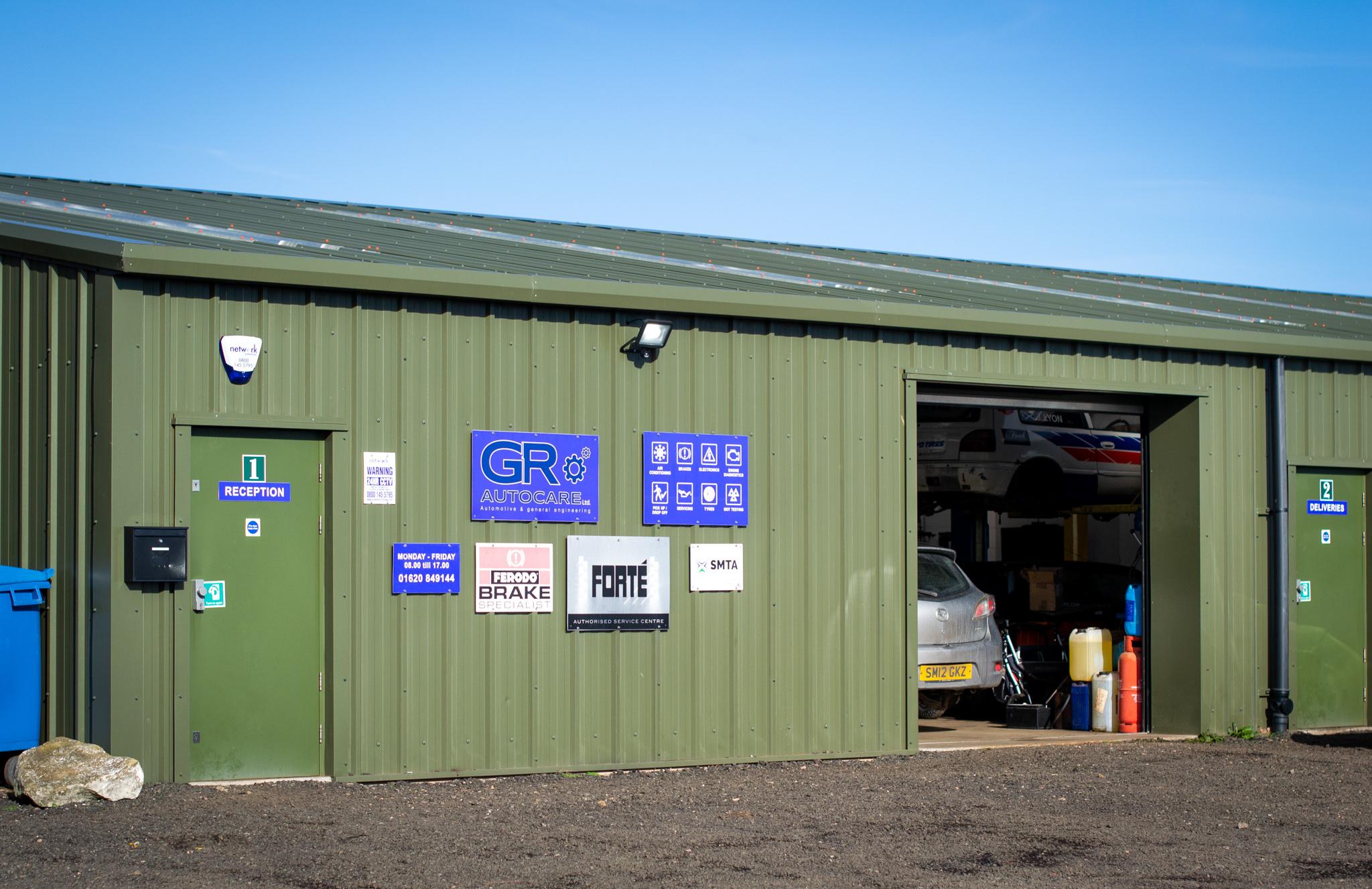 GR Autocare garage in North Berwick (Fenton Barns).